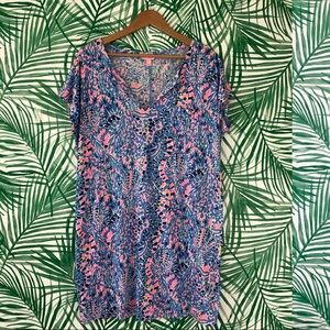 Lilly Pulitzer Tic Tac Tile Duval T-Shirt Dress